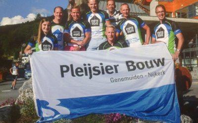 Pleijsier Bouw beklimt de Galibier voor het goede doel