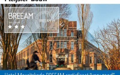 "Hotel Mauritskade BREEAM certificaat ""Very Good"""