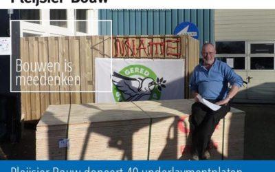 Pleijsier Bouw doneert 40 underlaymentplaten aan Stichting Gered Gereedschap