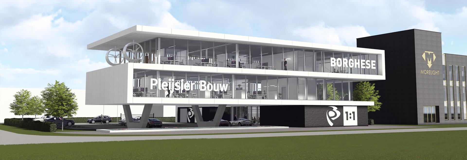 Nijkerk kantoor Pleijsier Bouw en Borghese