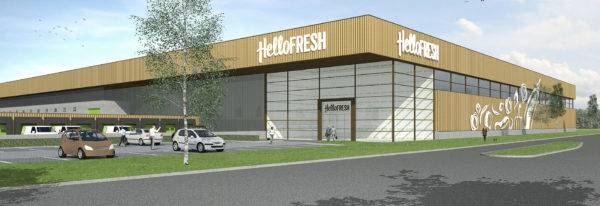 HelloFresh bouw distributiecentrum