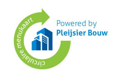 Met Circulaire Menukaart legt  Pleijsier Bouw solide fundament  voor verdere circulaire groei