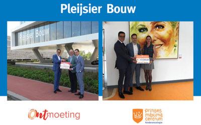 Pleijsier Bouw en Borghese overhandigen waardecheque aan het Prinses Maxima Centrum in Utrecht en 'Stichting Ontmoeting'